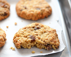 Thick, Soft and Chewy Oatmeal Raisin Cookies