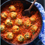 Chickpea Dumplings in Curry Tomato Sauce