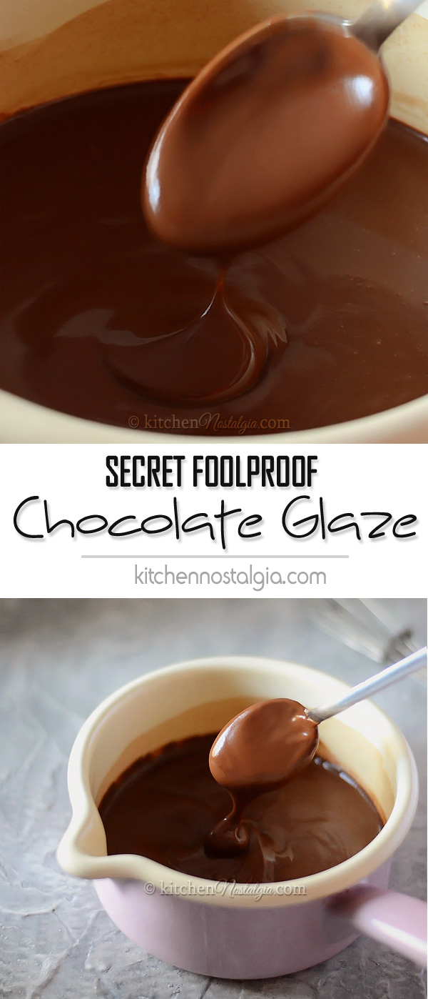 Secret Foolproof Chocolate Glaze Icing Frosting