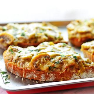 Baked Mushroom Sandwich