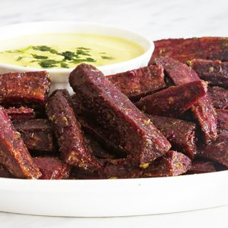 Spicy Purple Sweet Potato Fries