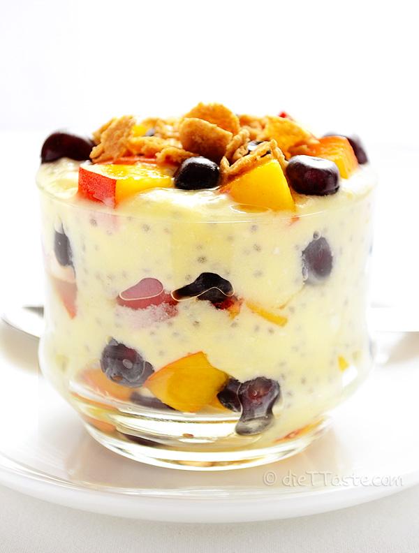 Chia Seed Parfait - from diettaste.com