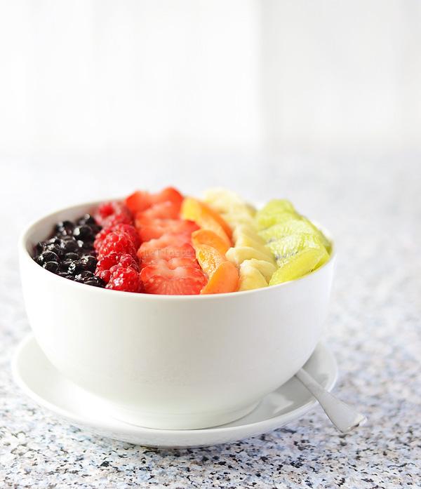 Rainbow Quinoa Breakfast Bowl