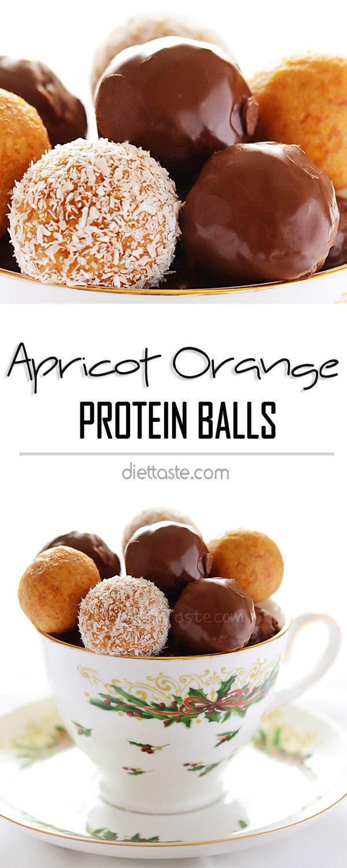 Apricot Orange Protein Balls - diettaste.com