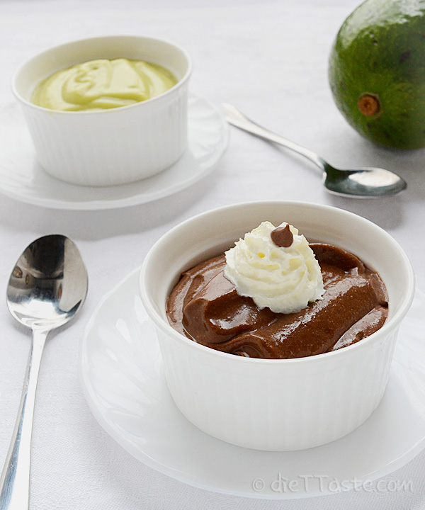 Avocado Chocolate Pudding - sugar-free, vegan, raw, diabetic friendly