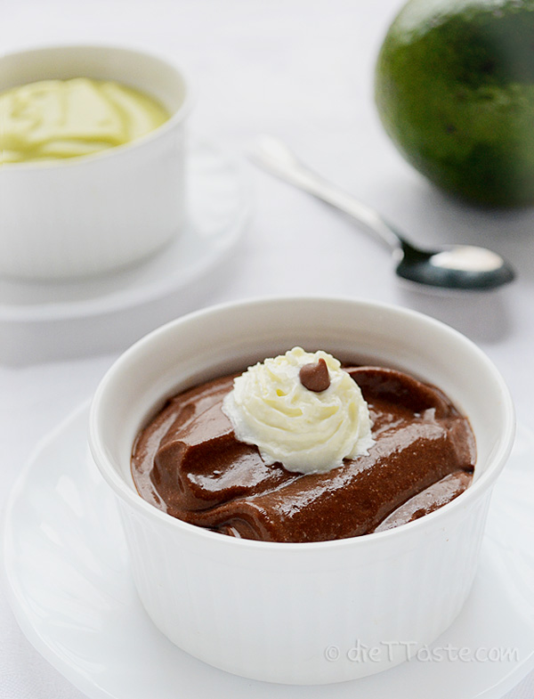 Avocado Chocolate Pudding - sugar-free, vegan, raw, diabetic friendly