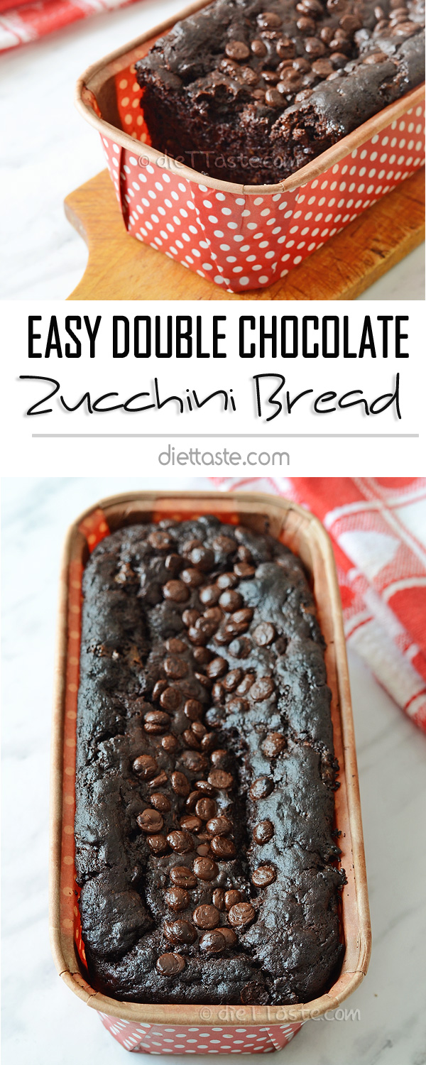 Easy Double Chocolate Zucchini Bread (Eggless)