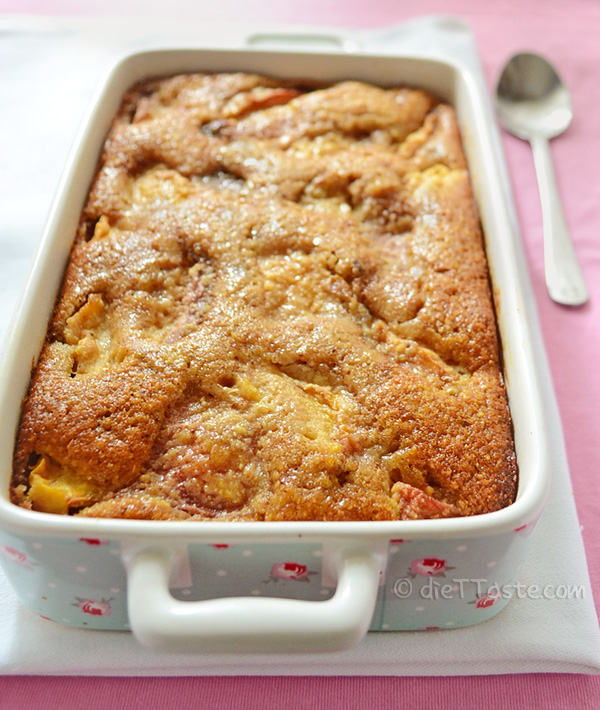Peach Cobbler with Chickpea Flour - diettaste.com
