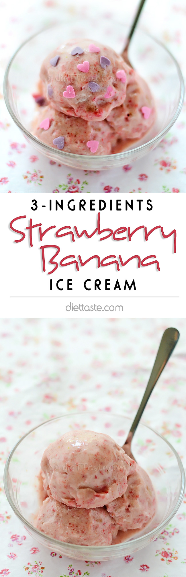 Strawberry Banana Ice Cream - diettaste.com