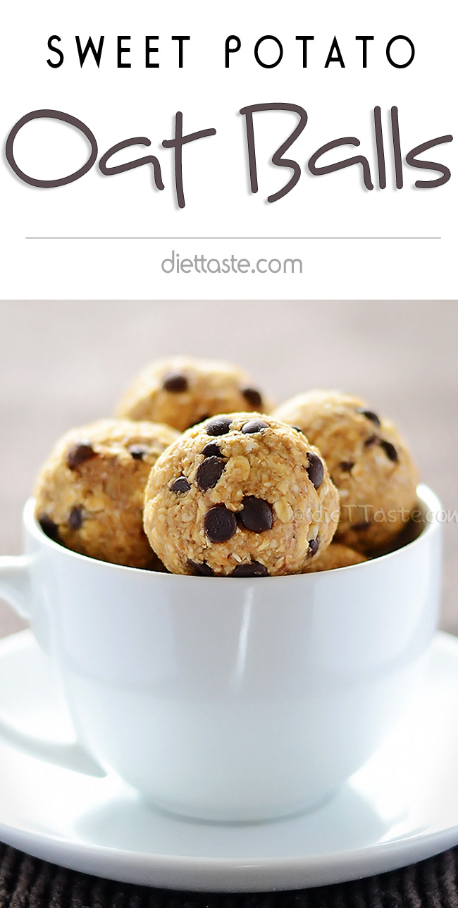 Sweet Potato Oat Balls - diettaste.com