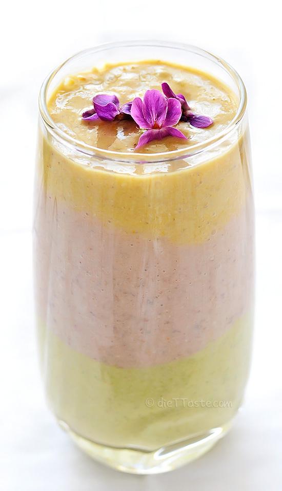 Spring Rainbow Smoothie - diettaste.com