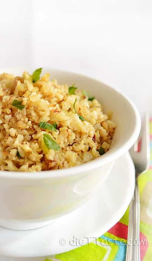 Riced Cauliflower - diettaste.com