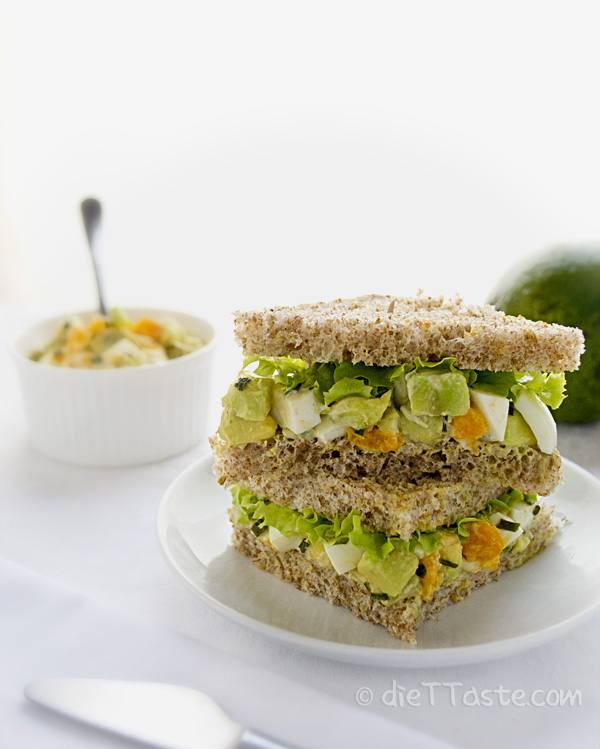 Avocado Egg Salad Sandwich - low-carb, lower in fat, but still very yummy!