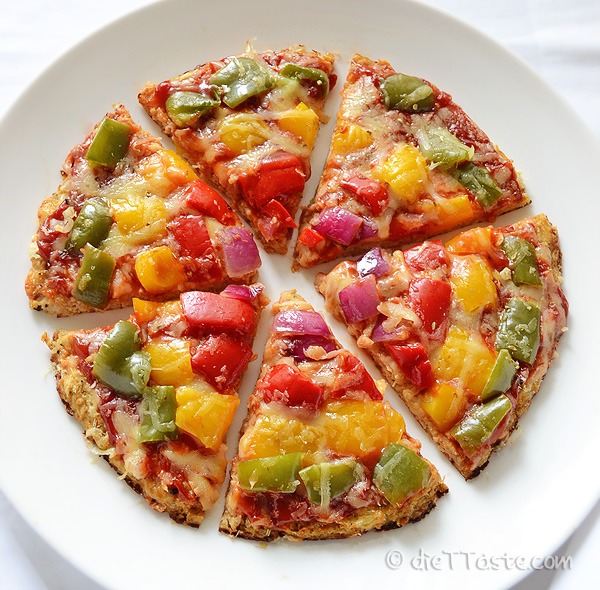 Cauliflower Crust Pizza - diettaste.com