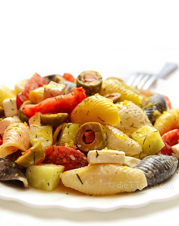 Mediterranean Summer Pasta Salad - diettaste.com