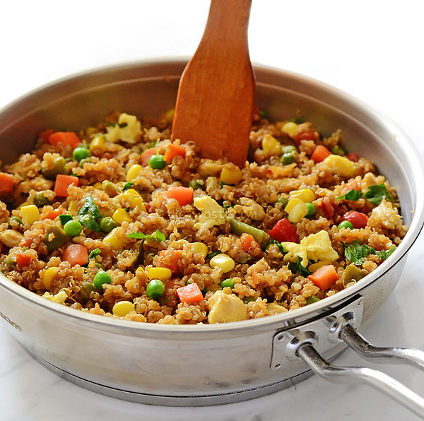 Quinoa Fried Rice - diettaste.com
