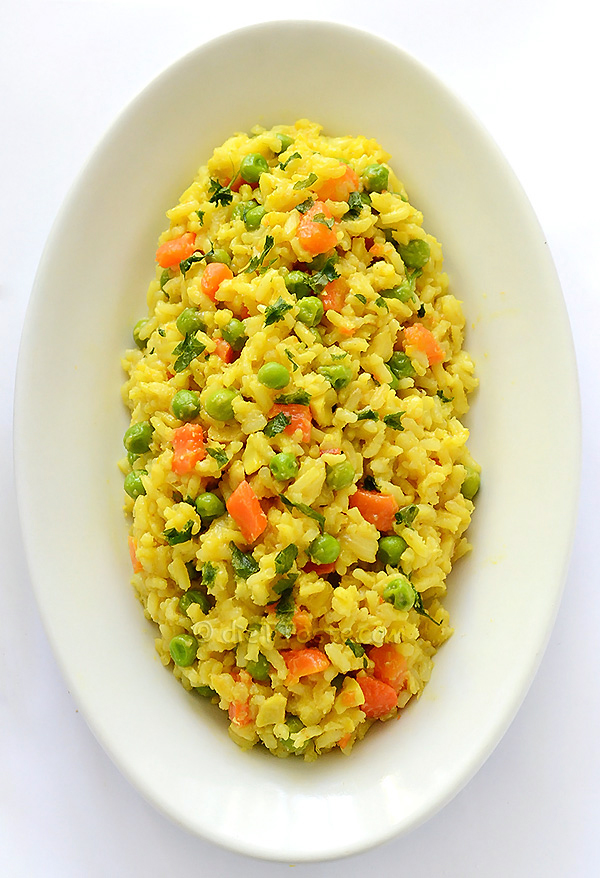Spicy Peas and Carrots Rice - diettaste.com