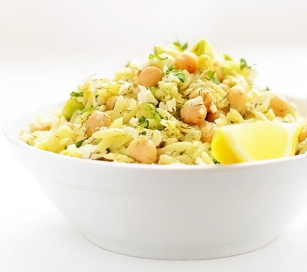 Chickpea Avocado Orzo Salad - diettaste.com