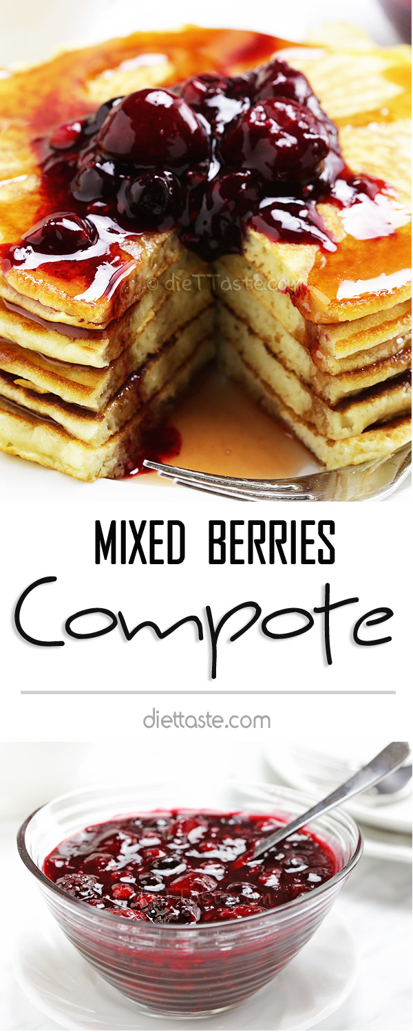 Mixed Berries Compote - easy and quick to make; great with cheesecake, french toast, pancakes, waffles or crepes