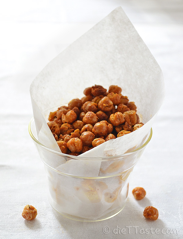 Roasted Chickpea Snack - diettaste.com