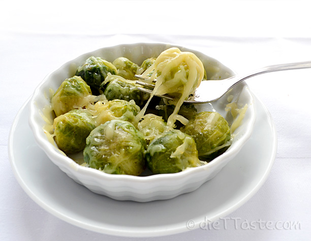 Sauteed Brussel Sprouts with Cheese