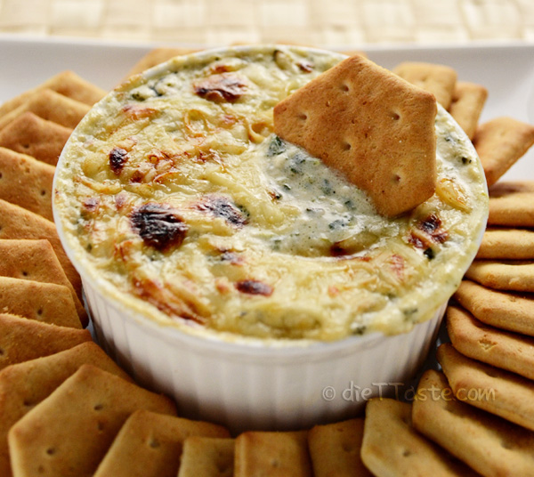 Spinach Artichoke Dip - low-fat