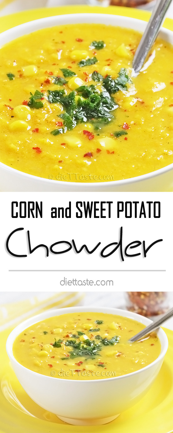 Corn and Sweet Potato Chowder - a new twist on a classic soup