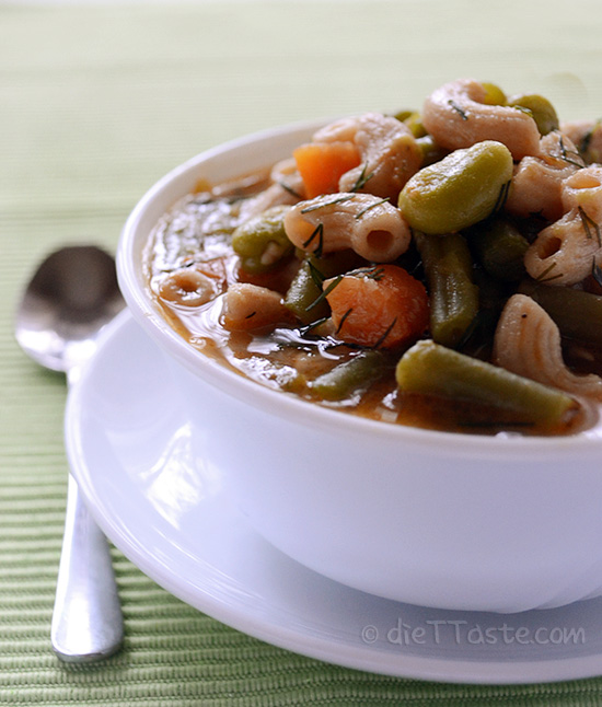 Vegetable Pasta Stew