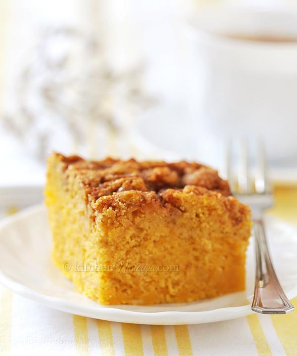 Sweet Potato Cinnamon Roll Cake - super moist breakfast cake; healthier then cinnamon rolls!