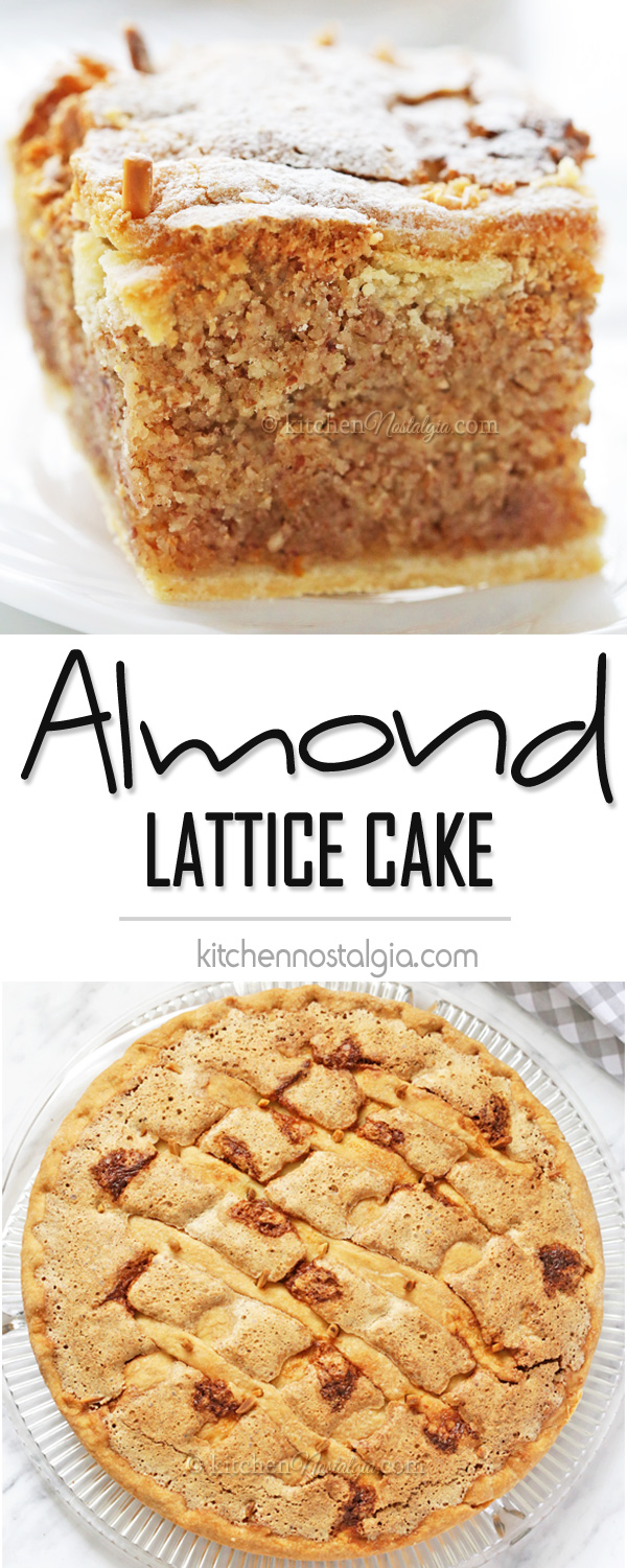 Almond Lattice Cake (Imotska Torta) - made with thin crust and rich almond filling with amazing taste of oranges, lemon, cinnamon and nutmeg; Croatian recipe