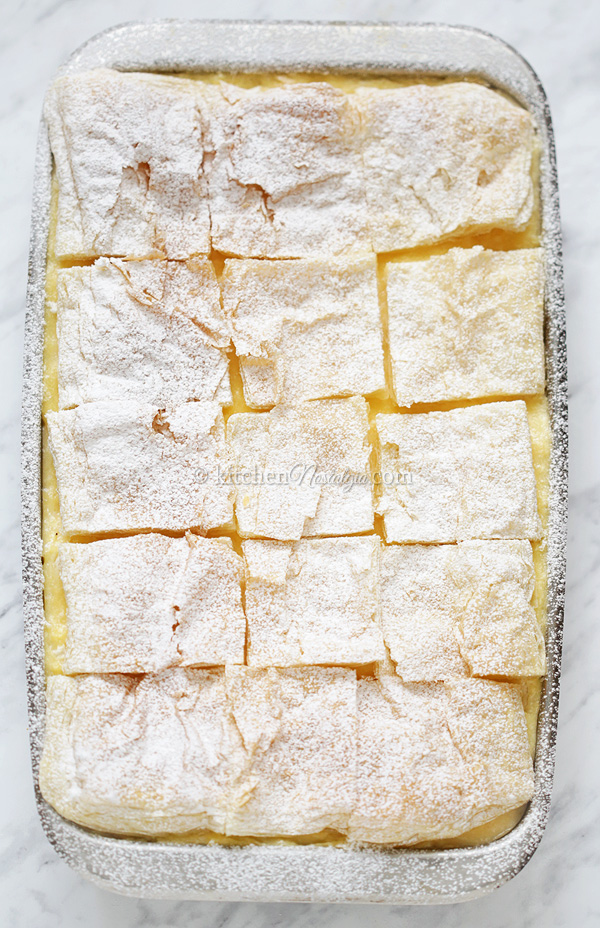 Kremsnite - Custard Cream Slices
