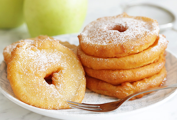 Apple Fritters - learn how to make easy homemade apple fritters from scratch, favorite childhood dessert