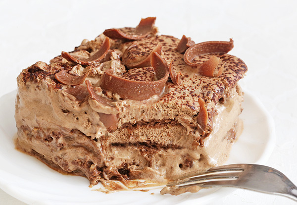Mocha Chocolate Icebox Cake - no bake, easy, rich, coffee and chocolate flavored dessert recipe