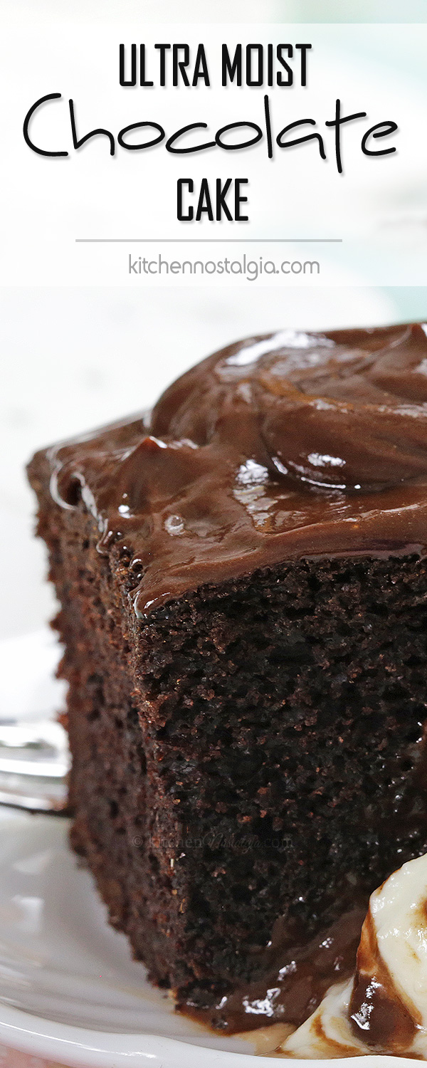Ultra Moist Chocolate Cake - soft, dark and super moist, the best cake for every chocolate lover!