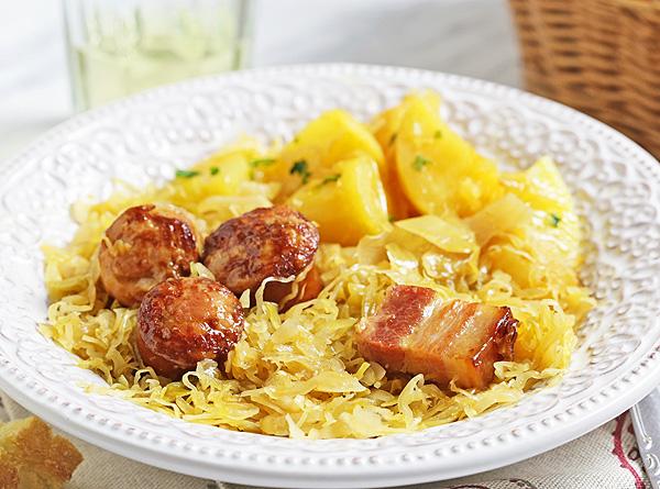 Kielbasa and Sauerkraut in Instant Pot - easy one pot recipe for a favorite Polish winter dish