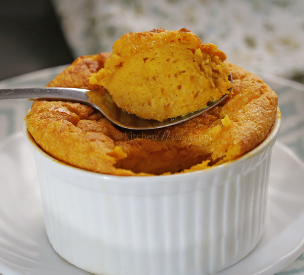 Sweet Potato Souffle - delicate, puffed up and fluffy festive dish, both savory and sweet