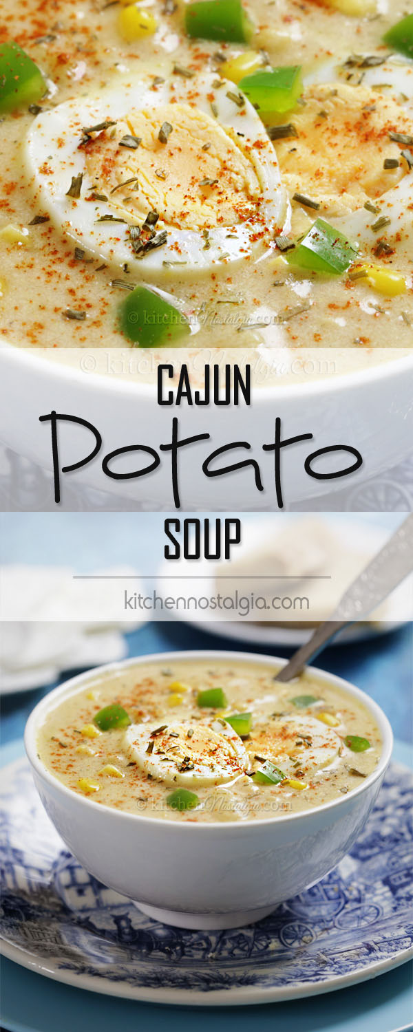 Cajun Potato Soup - all the flavors of Cajun Potato Salad turned into a creamy winter delight