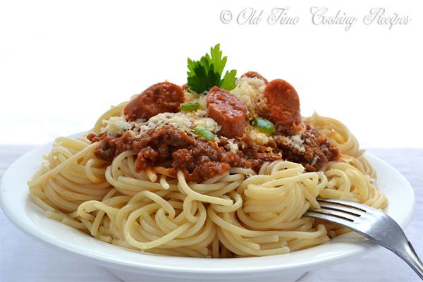 Pinoy (Filipino) Spaghetti