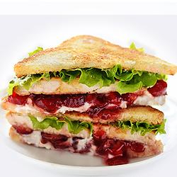 Cranberry Cream Cheese Turkey Sandwich