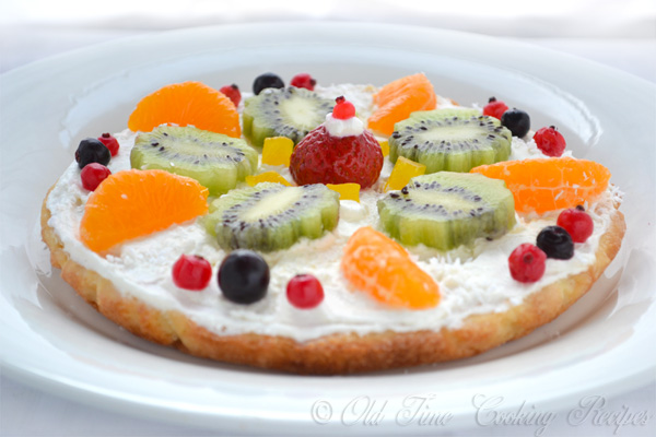 Cream Cheese Fruit Pizza