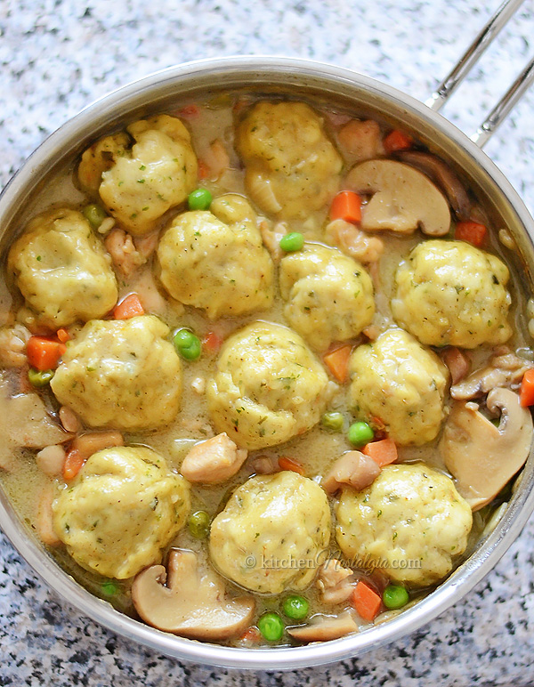 Chicken Fricassee with Bisquick Dumplings