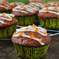 Apple Carrot Cinnamon Muffins