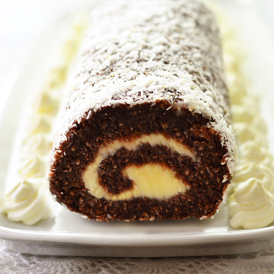 Chocolate Coconut Roll – No Bake