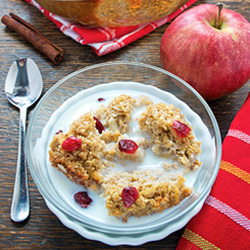 Baked Oatmeal with Grated Apples