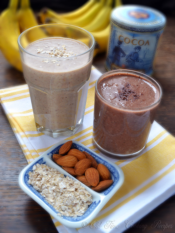 Banana Yogurt Oatmeal Smoothie Recipe