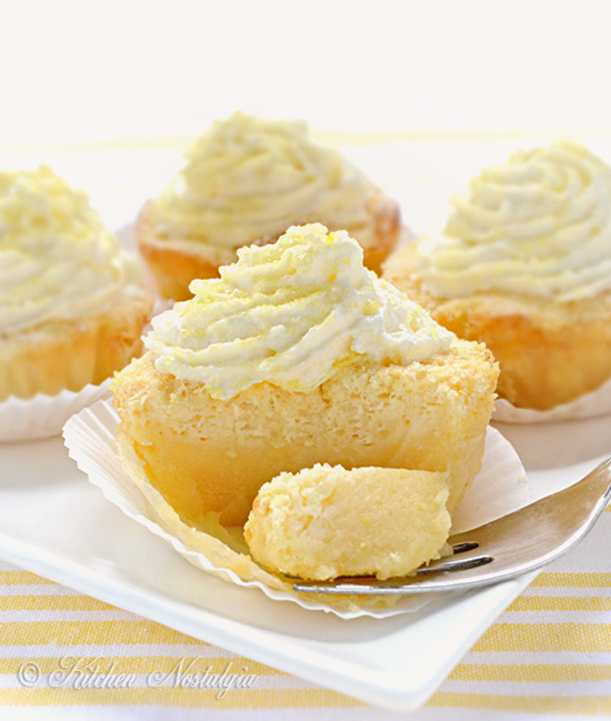 Lemon Magic Cake Cupcakes