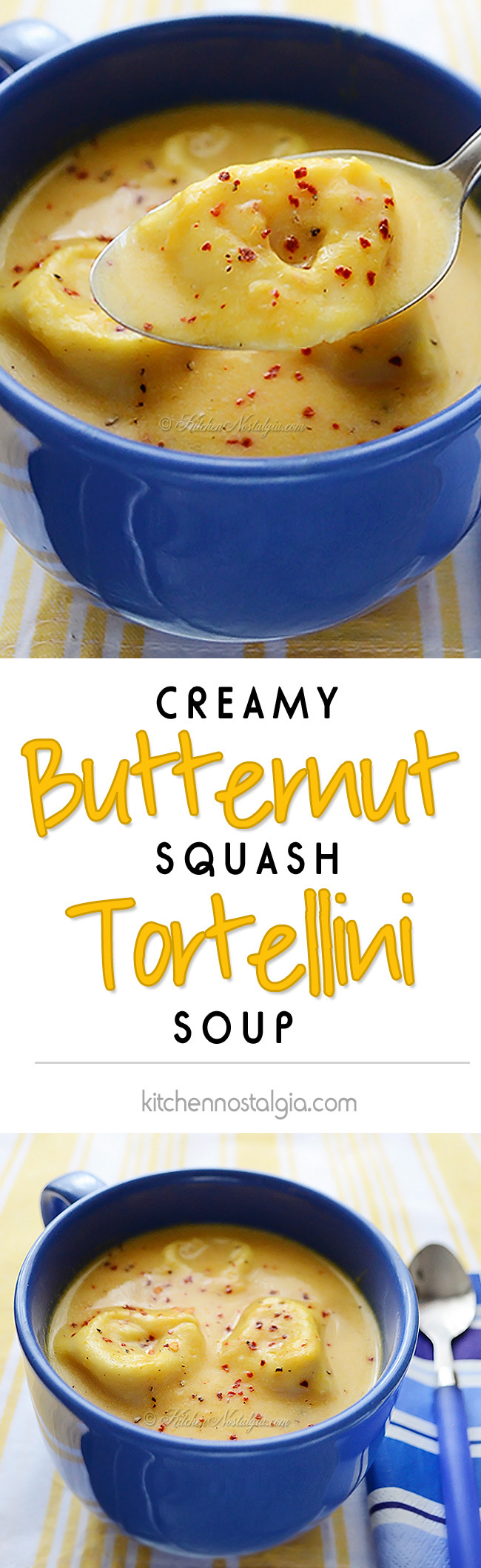 Creamy Butternut Squash Tortellini Soup - the ultimate comfort food