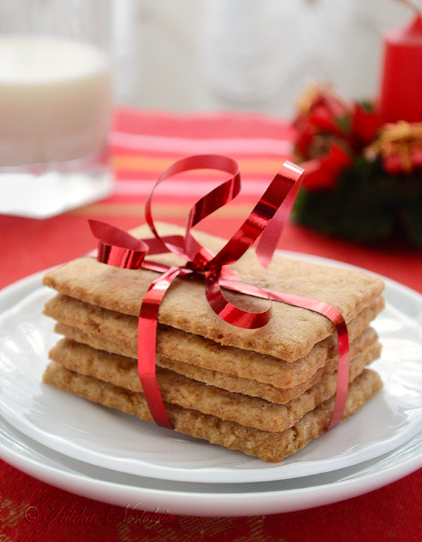 Homemade Graham Crackers; recipe from kitchennostalgia.com
