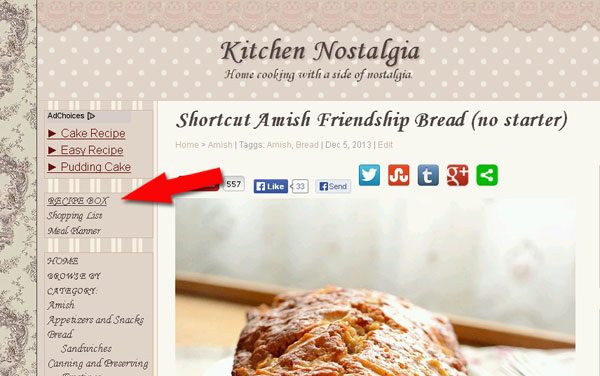 Saving & Printing Recipes On Kitchen Nostalgia - kitchennostalgia.com