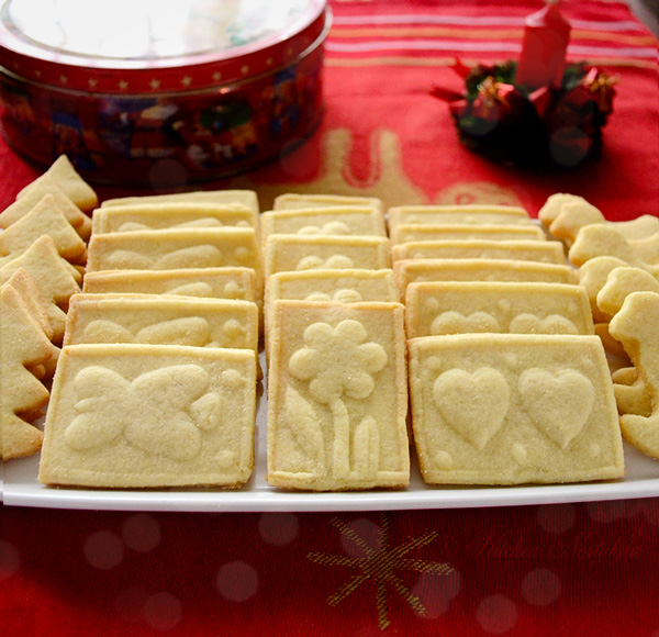 Marzipan Shortbread Cookies - kitchennostalgia.com